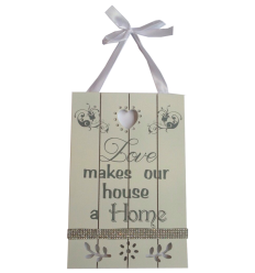 Loves Makes a Home Plaque