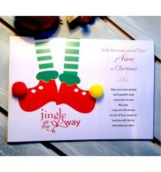 Christmas Personalised Card - Elf