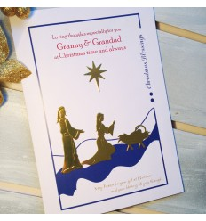 Christmas Personalised Card - Nativity