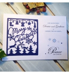 Christmas Personalised Card - Peace