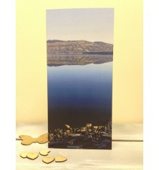 Irish Lake with Mountain Reflection - blank card