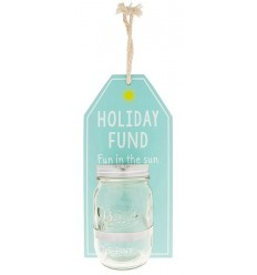 Hanging Holiday Fund Money Jar