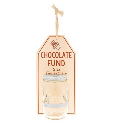 Hanging Chocolate Fund Money Jar