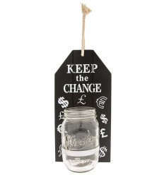 Hanging Keep the Change Jar