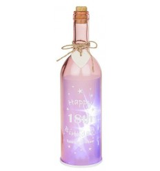 Pink Light up 18th Birthday Gift Bottle
