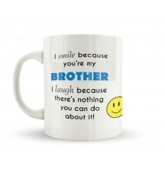 Brothers Make You Smile and Laugh Mug