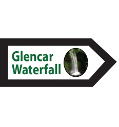 Glencar Waterfall Wooden Sign