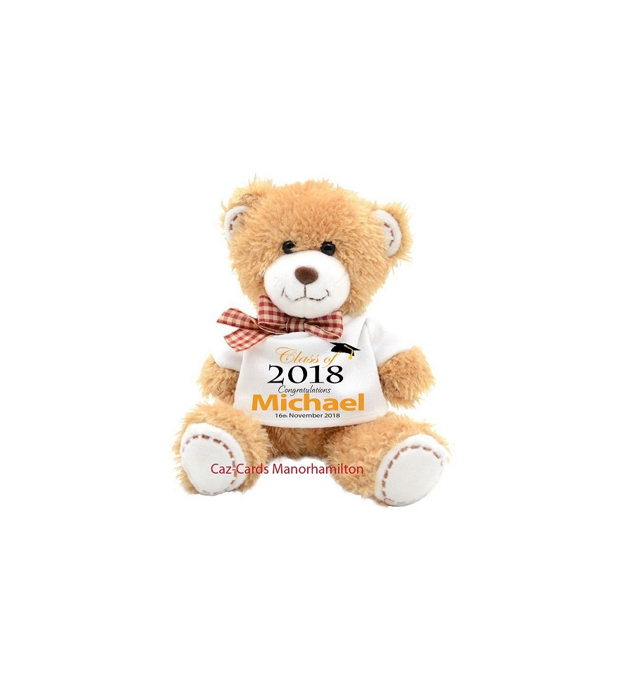 Ted T15 Graduation Personalised Teddy Bear Caz Cards