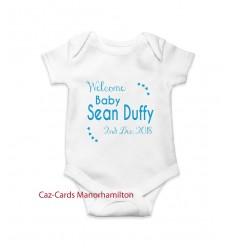 Welcome Baby Boy Babygrow