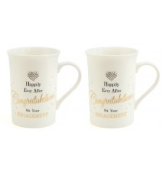 Congratulations on your Engagement Set of 2 Mugs