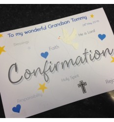 CONFIRMATION Personalised Card 8