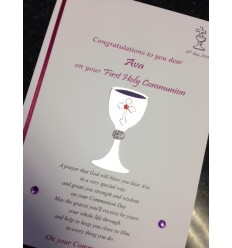 First Communion Personalised Card 5