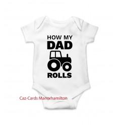 How Dad Rolls Babygro