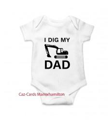 I Dig My Dad Babygro