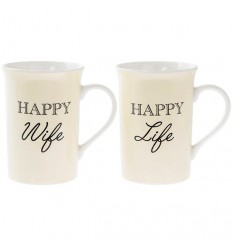 Happy Wife Happy Life Mug Set