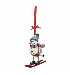 Snowman On Skis Decoration
