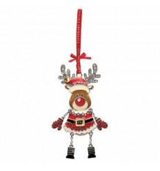 Santa Reindeer Decoration
