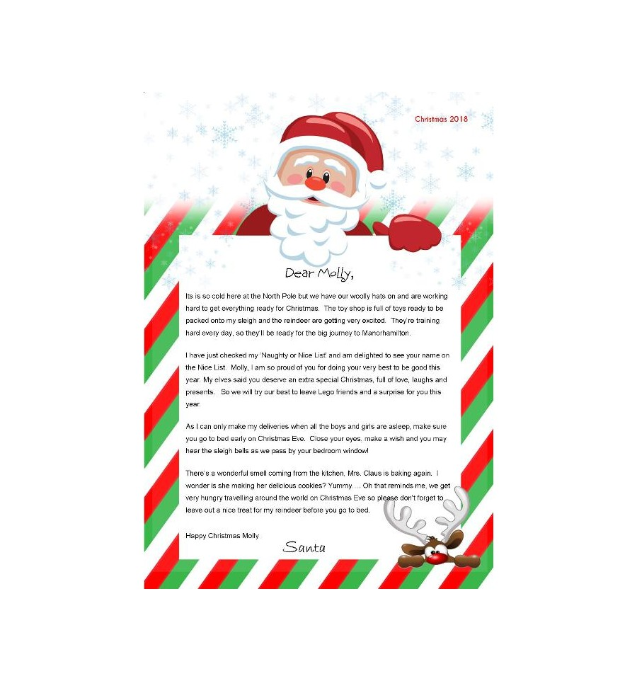 Personalised Letter from Santa only €4 | Caz-Cards Manorhamilton