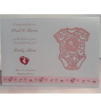 Baby Girl Personalised Card - 6