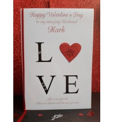 Valentine's Day Personalised Card 1 Love