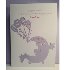 Baby Girl Personalised Card - 7
