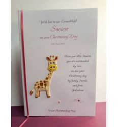 Christening Girl Personalised Card - 1
