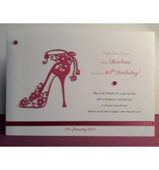 Birthday Card Pink Shoe Personalised Card - 4