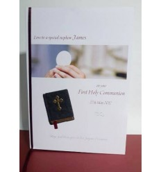 First Communion Personalised Card 8 Bible