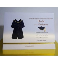 Graduation Personalised Card Gold