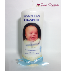 Christening Candle for Boy