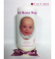 Christening Candle for Girl