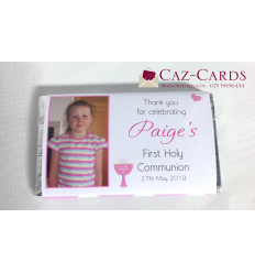 First Communion Personalised Chocolate Bars x 60