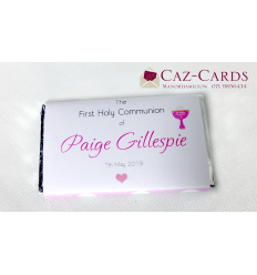 30 First Communion -  Personalised Chocolate Bars