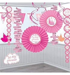 1st Communion Decoration Pack Pink