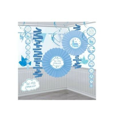 1st Communion Decoration Pack Blue
