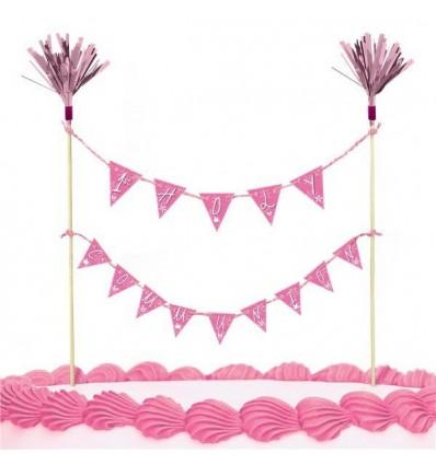 1st Communion Cake Picks Pink