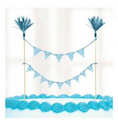 1st Communion Cake Picks Blue