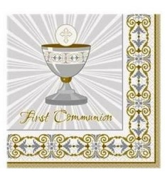 1st Communion Gold Napkins