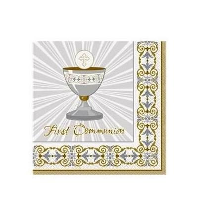 1st Communion Gold Napkins