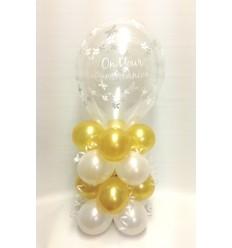 Balloon Column First Communion Gold