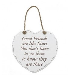 Good Friends are like stars Heart Plaque