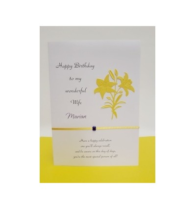 Yellow Flower Personalised Birthday Card - 11