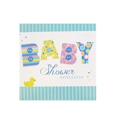 6 Pack Of Baby Shower Invitation Cards