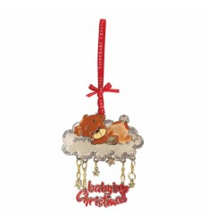 Sparkle Cloud Bear 1st Christmas Decoration