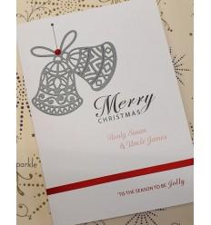Christmas Bells Personalised Card