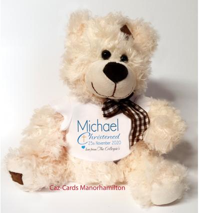 Christening Boy Teddy Bear