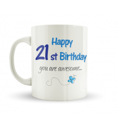 21st Birthday Mug Blue