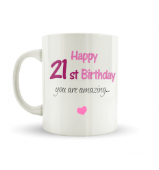 21st Birthday Mug Pink