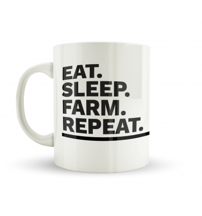 Eat Sleep Farm Repeat Mug