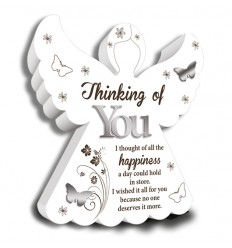 Thinking of You Angel Plaque